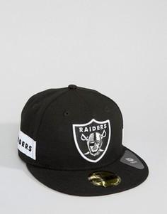 Кепка с логотипом сбоку New Era 59Fifty Oakland Raiders - Черный