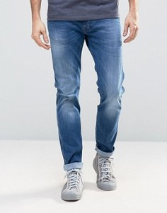 Синие джинсы слим Replay Anbass Hyperflex - Синий