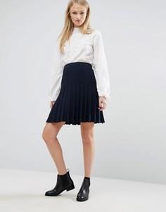 Плиссированная юбка Vila - Темно-синий