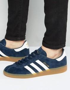 Темно-синие кроссовки adidas Originals Munchen BB5297 - Темно-синий