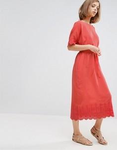 Платье миди с отделкой Vanessa Bruno Athe - Красный