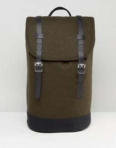 Зеленый рюкзак с отделкой из искусственной кожи ASOS - Зеленый
