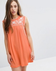 Платье с вышивкой Little White Lies Lee - Оранжевый
