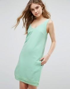 Цельнокройное платье с V-образным вырезом Traffic People - Зеленый