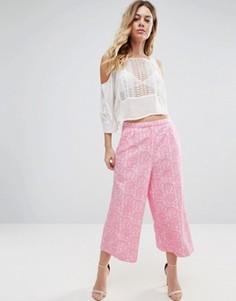 Юбка-шорты с принтом Traffic People - Розовый