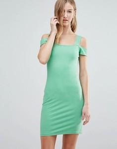 Платье с вырезами на плечах Motel - Зеленый