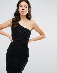 Платье на одно плечо Jasmine - Черный
