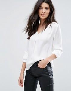 Тканая блузка с V‑образным вырезом Vila - Белый