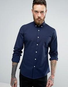 Темно-синяя узкая оксфордская рубашка ASOS - Синий