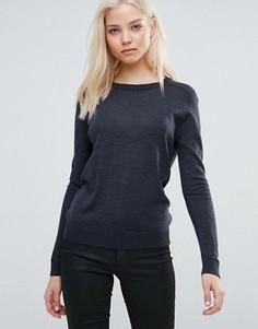 Джемпер с круглым вырезом и длинными рукавами Vero Moda - Серый