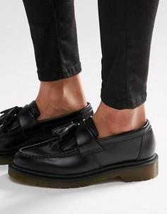 Черные кожаные лоферы с кисточками Dr Martens Adrian - Черный