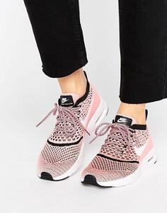 Розовые кроссовки с вязаной отделкой Nike Air Max Thea Ultra - Розовый