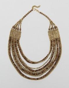 Многорядное ожерелье с бусинами Raga - Коричневый