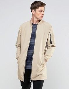 Длинная куртка Brave Soul - Бежевый