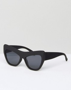 Массивные солнцезащитные очки кошачий глаз Le Specs - Черный