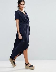 Платье с запахом d.RA Iris - Темно-синий