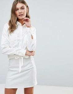 Рубашка в стиле вестерн с вышивкой Vero Moda Florence - Белый