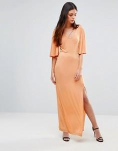 Платье макси с рукавами-бабочка First & I - Мульти