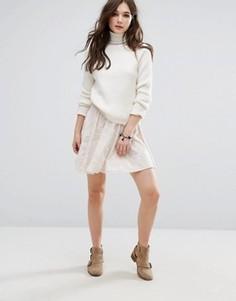 Расклешенная юбка Vila - Коричневый
