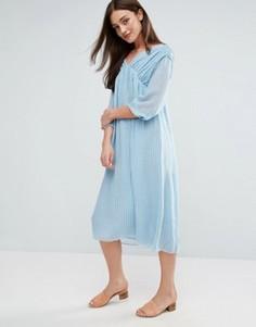 Платье миди MiH Petaluma - Синий