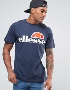 Футболка с классическим логотипом Ellesse - Темно-синий