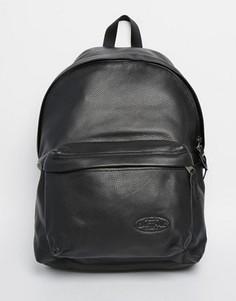 Кожаный рюкзак с уплотнением Eastpak PakR - Черный