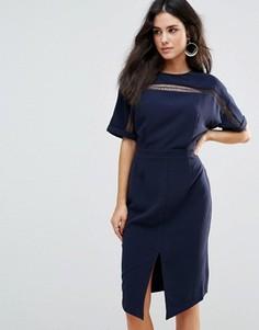 Платье с рукавами-кимоно Adelyn Rae - Темно-синий