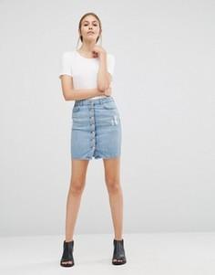Джинсовая юбка Just Female Wayne - Синий