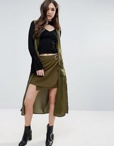 Легкое пальто без рукавов в стиле милитари d.RA Clarisse - Зеленый