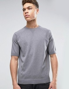 Серый джемпер свободного кроя с короткими рукавами ASOS - Серый