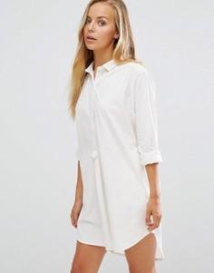Платье-рубашка Maison Scotch Home Alone - Белый