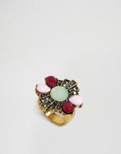 Массивное кольцо с камнями DesignB - Золотой