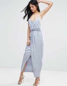 Платье макси с запахом Talulah Cara - Серый