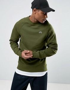 Зеленый трикотажный свитшот с круглым вырезом Nike SB Everett 829385-331 - Зеленый
