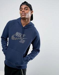Темно-синий худи Nike SB Icon 846886-452 - Темно-синий