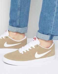 Бежевые кроссовки Nike SB Check Solar 843895-211 - Зеленый