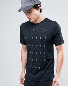 Черная футболка с принтом Nike SB 864881-010 - Черный