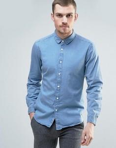 Светлая джинсовая рубашка Esprit - Синий