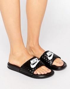 Черные шлепанцы с логотипом Nike Benassi - Черный