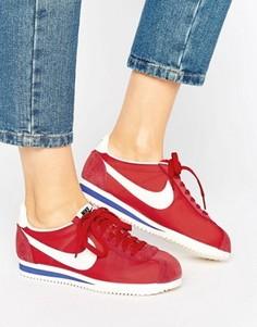 Классические красные кроссовки Nike Cortez - Красный