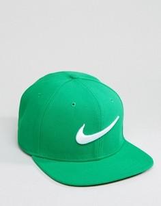Зеленая бейсболка с галочкой Nike 639534-324 - Зеленый