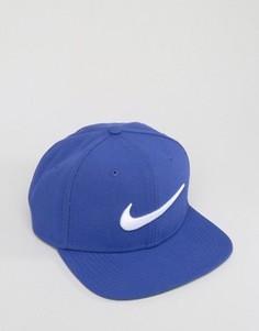 Синяя бейсболка с галочкой Nike 639534-512 - Синий