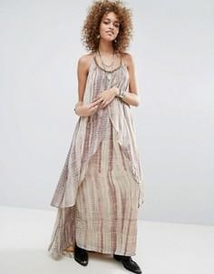 Многослойное платье макси Raga Aphrodite - Коричневый