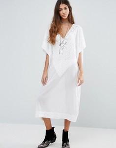 Платье миди свободного кроя Raga Sweet Serenity - Белый