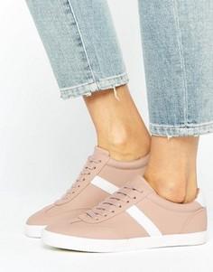 Полосатые кроссовки со шнурками ASOS DELPHINE - Бежевый