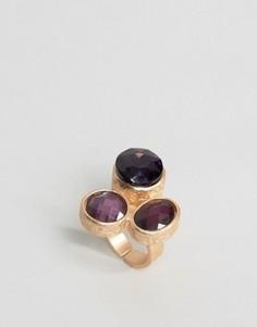 Массивное кольцо с камнем Nylon - Фиолетовый