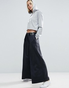 Широкие брюки ASOS WHITE - Серый