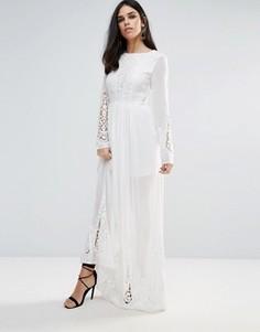 Платье макси с кружевом The Jetset Diaries - Белый