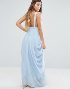 Платье макси с драпировкой Vila - Синий