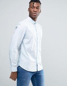 Рубашка классического кроя из выбеленного хлопка Bellfield - Синий